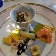 前菜は和食にしました