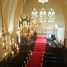 教会が素晴らしかった。雰囲気も最高です。