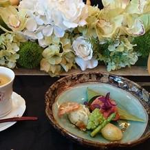 宮崎牛とご飯の入った茶碗蒸し