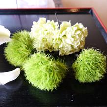 ヘッドピース。生花です。カワイイ