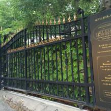 重厚感のある門