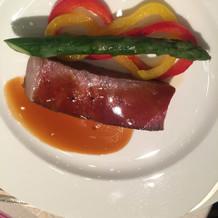 二番目のコースの肉料理です。
