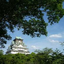 大阪城を正面に見れます