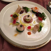 オマール海老と帆立貝のマリアージュ