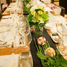 ゲストテーブル装花で