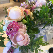 装花も希望通りなものにしていただき満足