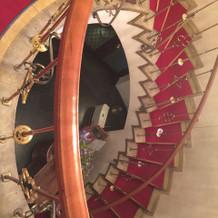 写真スポットとしても使える螺旋階段
