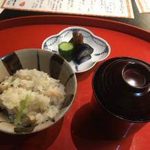 日本料理ならでは。 最後にご飯もの。
