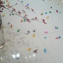 折り鶴シャワー 作りました