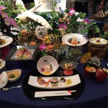 料理長作の飾り野菜もあります。