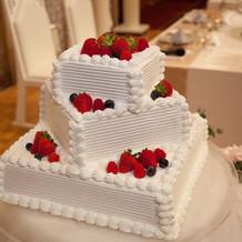 ケーキのデザインも様々