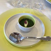 埼玉県産の野菜を使った冷製スープ