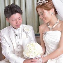 結婚式までの新郎新婦待合室。