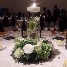 テーブル装花・キャンドル