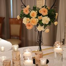 メインキャンドルの装花