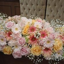 メイン装花(1番安いプラン)