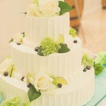 会場の雰囲気にあったケーキ
