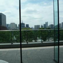 披露宴会場ウェルカムスペースからの眺め