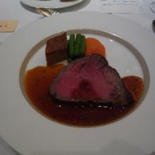 Cコースの肉。こちらの方が好み。