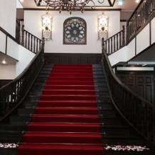 階段。正面から。