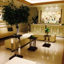 ゲストの待合室、新しく綺麗です。
