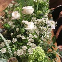 お花がお洒落でした