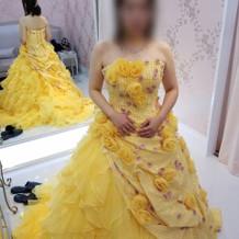 担当者がドレスを探して来てくれました。