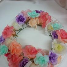 手作りの花冠