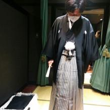 新郎の紋服