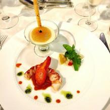 オマール海老と野菜のムース