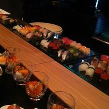 寿司バー。新鮮なネタでした!