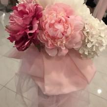 コクーンチャペルの飾りのお花
