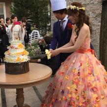 蜷川実花のお花いっぱいのカラードレス