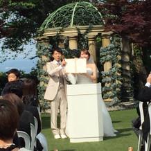 結婚式 ガーデン