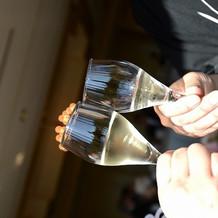 乾杯用シャンパングラス