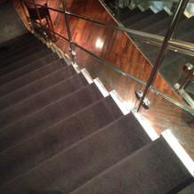 披露宴会場への階段