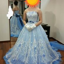 当日のカラードレス(プラス30000円)