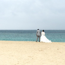 ホテル付近でのビーチ撮影