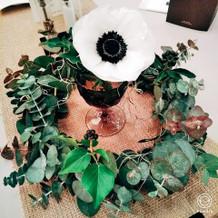 生花と造花のバランスがきれい