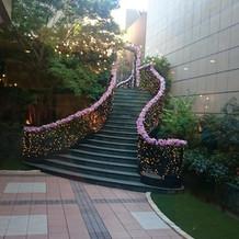 ガーデンコート階段
