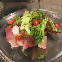 生魚の前菜