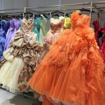 カラードレスもバリエ豊富