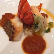 オマール海老と真鯛のオーブン焼き
