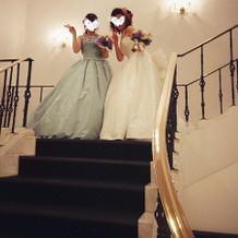 一階の階段にて!