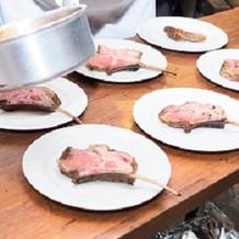 オプションのラム肉ロースト