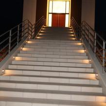 チャペル外階段。