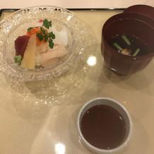 ミニ海鮮丼とお吸い物