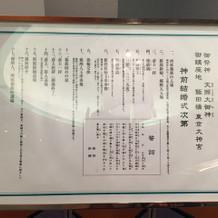 東京大神宮の式次第。