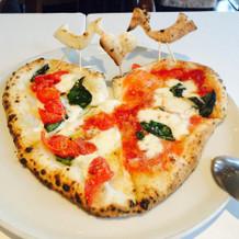 試食のピザ