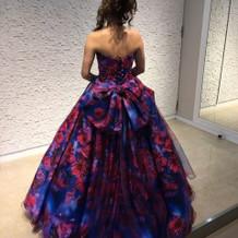 実際に着用したカラードレス
